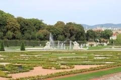 Statuen im Belvederegarten-Garten Wien Stockfoto