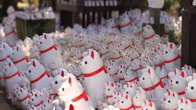 Statuen-Katze bei Gotokuji in Tokyo stock footage