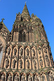 Statuen Lichfield-Kathedrale, Staffordshire Stockbilder