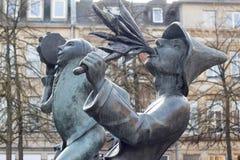 Statuen in Luxemburg stockbilder
