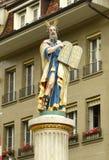 Statuen-Moses-Brunnen an MÃ-¼ nsterplatz in Bern, die Schweiz Lizenzfreies Stockfoto