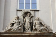Statuen in Quedlinburg stockbilder