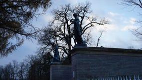 Statuen und Garten Catherine Palaces stockfotos