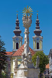 Statuen- und Serbekirche der Heiligen Dreifaltigkeit in Timisoara, Rumänien Stockfotografie