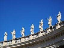 Statuen in Vatican Lizenzfreie Stockbilder