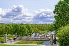 Statuen in Vigeland-Park in Oslo-Völkern stockbilder