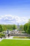 Statuen in Vigeland-Park in Oslo-Vertikale lizenzfreies stockfoto
