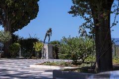 Statuen von Athleten im Garten der Achilleions-Palast auf der Insel von Korfu Griechenland errichtet von der Kaiserin Elizabeth v Stockfotografie