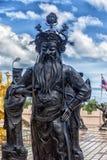 Statuen von Chinese Shaolin-Mönchen Lizenzfreies Stockfoto