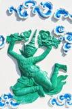 Statuen von Engeln in der siamesischen Art Lizenzfreie Stockbilder