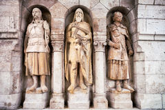 Statuen von Fischer ` s Bastion in Budapest, Ungarn Stockfoto