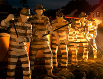 Statuen von Gefangen-St. Augustine Florida Old Jail Lizenzfreie Stockfotos