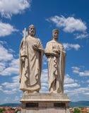 Statuen von König Stephen und Königin Gisela Lizenzfreie Stockfotografie