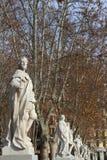 Statuen von Königen von Spanien lizenzfreies stockbild