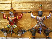 Statuen von rakshas Lizenzfreies Stockbild