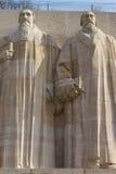 Statuen von Theodore de Beze und von John Knox. Lizenzfreies Stockbild