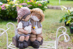 Statuen von zwei Liebhabern Stockbilder