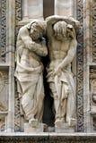 Statuen vor der Haube von Mailand Lizenzfreies Stockbild