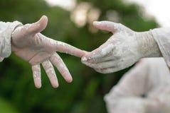 Statuen während des internationalen Festivals von lebenden Statuen Stockfotografie