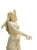 Statuenfrauen auf lokalisiertem hinterem Boden Stockfotografie