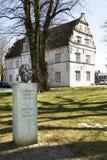 Statuengründer der Soziologie in Husum, Deutschland Lizenzfreies Stockbild