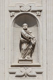 Statuenskulptur, Basilika Kirche des heiligen Kreuzes Lecce, Italien stockfotografie