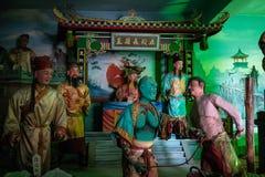 Statues à l'intérieur de temple bizarre de Nantian à Changhua Taïwan photo stock