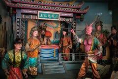 Statues à l'intérieur de temple bizarre de Nantian à Changhua Taïwan photos libres de droits