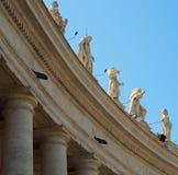 Statues à St Peters Square, Vatican Photo stock