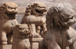 Statues. Chinese statues of Lion royalty free stock images