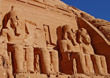 Statues in Abu Simbel Royalty Free Stock Photo