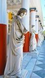 Statues in Achillion palace. Achillion palace in Corfu island , Greece Stock Photo