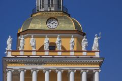 Statues at the Admiralty. Royalty Free Stock Photo