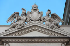 Statues of  allegories - Great Theater of Vienna - Austria Royalty Free Stock Photo