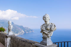 Statues Along the Terrace of Infinity in Ravello Royalty Free Stock Image