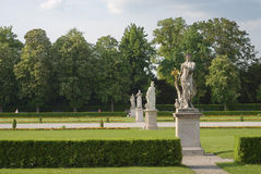 Statues Along a Walkway royalty free stock photography