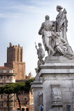 Statues of the altar of the homeland and the tower of the militias Royalty Free Stock Photography