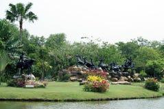 Statues in Ancient Siam, Ayutthaya, Bangkok, Thailand, Asia Stock Photo