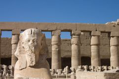 Statues in the ancient temple. Luxor. Egypt Stock Photo