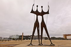 Statues And Supreme Court In Brasilia Royalty Free Stock Images