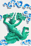 Statues of angels in Thai style. Ancient statues of angels in Thai style, Bangkok Thailand Royalty Free Stock Images