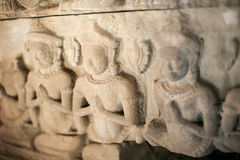 The statues of  Angkor Temples, Cambodia Stock Images