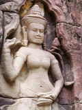 Statues in Angkor Wat, Cambodia, Siem Reap Royalty Free Stock Photos