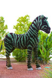 Statues Animals Insects and humans made from plants and herbs. Royalty Free Stock Photos
