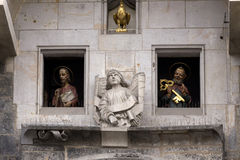 Statues of Apostles from historical medieval astronomical Clock in Prague on Old Town Hall , Czech Republic Stock Images
