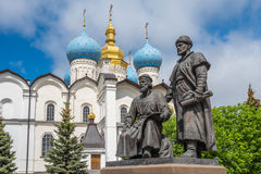 Statues of architects, Kazan Kremlin, Russia Stock Photography