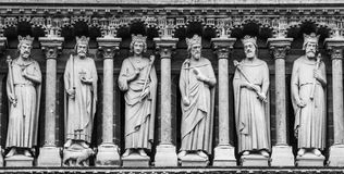 The statues and architectural elements of the main facade of the Grand Opera. PARIS, FRANCE – 21 SEPTEMBER 2012: The statues and architectural elements of the Stock Photo