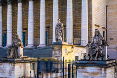 Statues on Assemblée Nationale - Paris, France Royalty Free Stock Photography