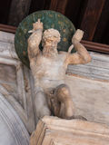Statues of Atlas: Entrance to the Golden Staircase in the Doge's Stock Photos