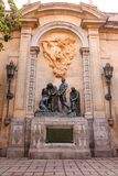 Statues on Barcelona Church Wall Royalty Free Stock Images